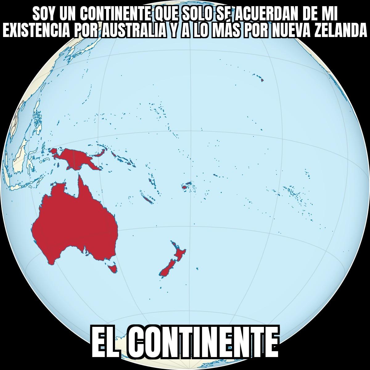 Fuera de broma solo conocen al continente por Australia - meme