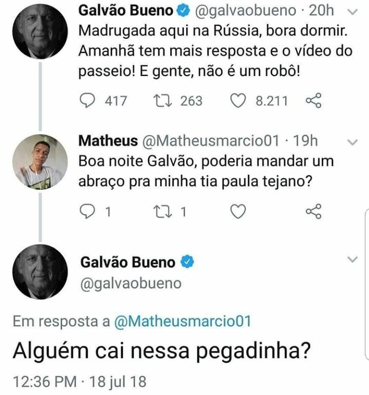 RESPEITEM O GALVÃO!! - meme