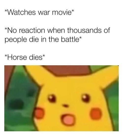Ohh poor horse! - meme