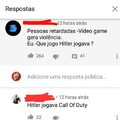 Hitler jogava a todo gás