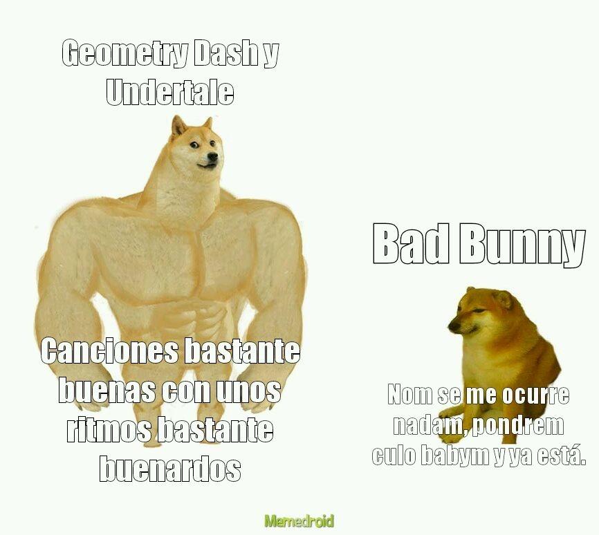 Disculpad la repetición de la palabra bueno en el swole dog - meme