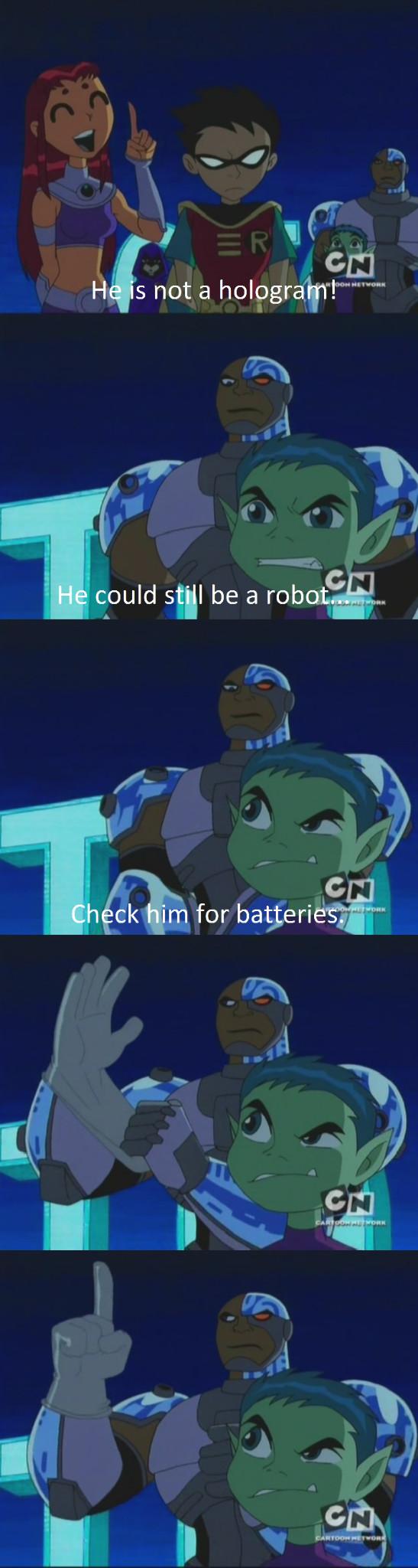 Teen Titans gettin real - meme