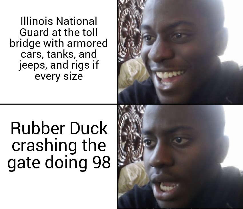 Let them truckers roll - meme