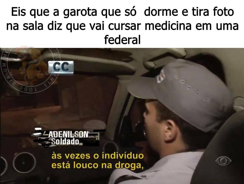 Louca na droga! - meme
