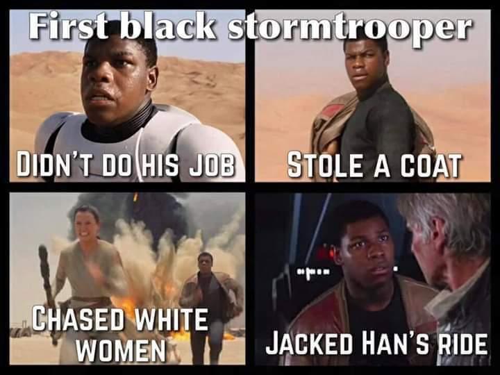 It's funny cause he's black - meme