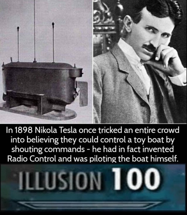 Nikola Tesla was as genius and a true legend - meme