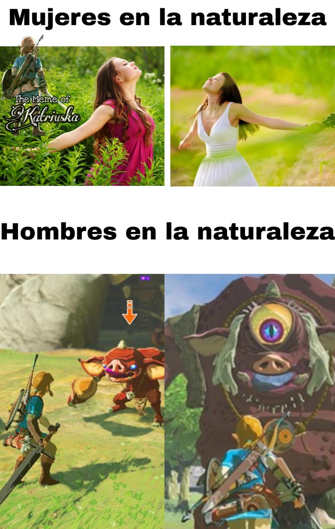 Hombres en la naturaleza - meme
