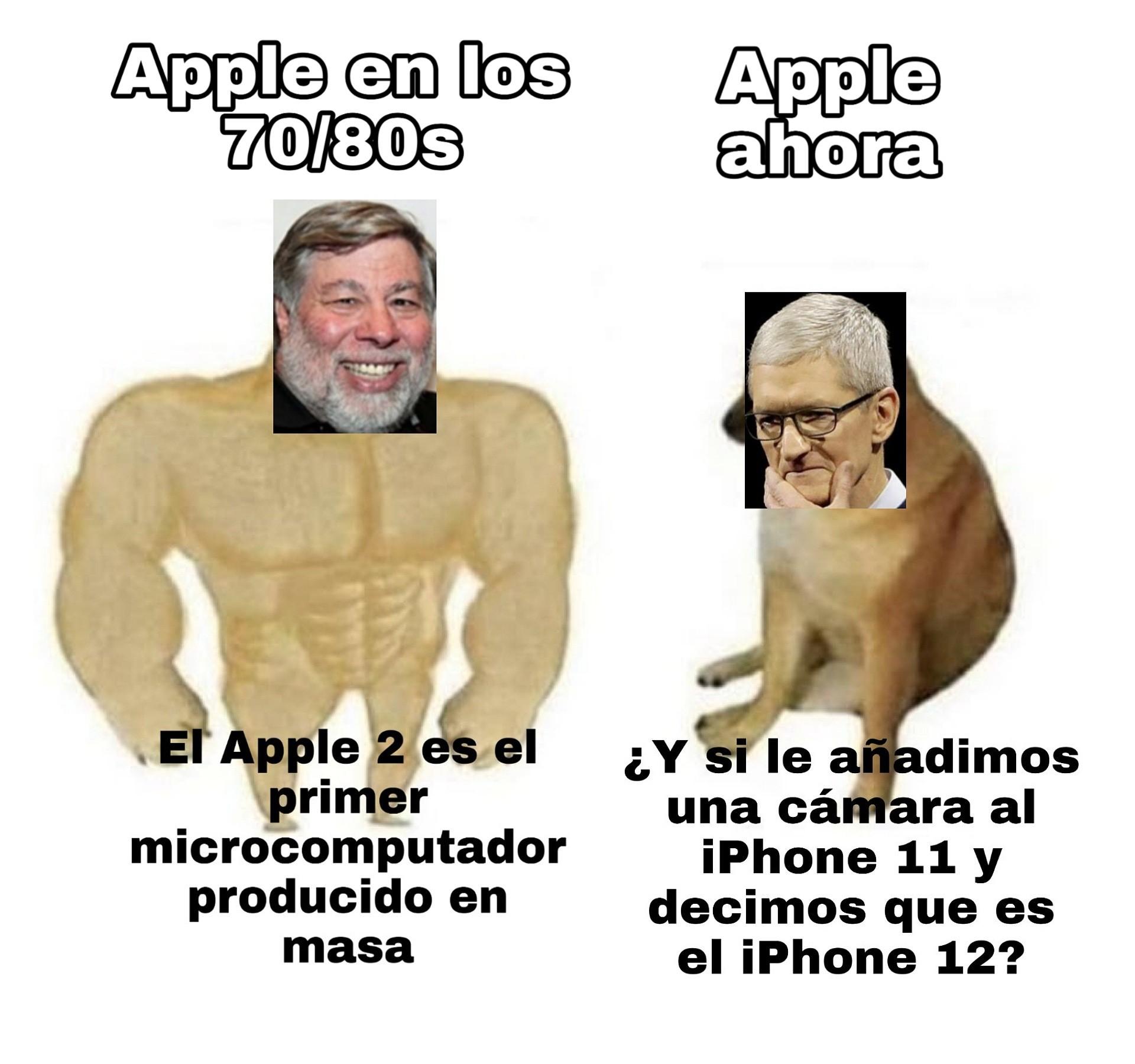 No tengo hate hacia apple. Pd: Que buen PC el Apple II - meme
