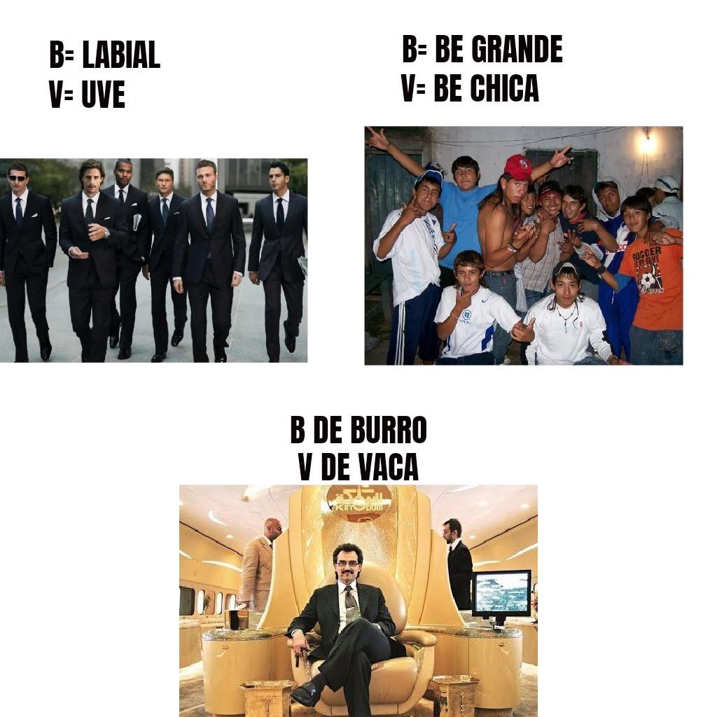 B - meme