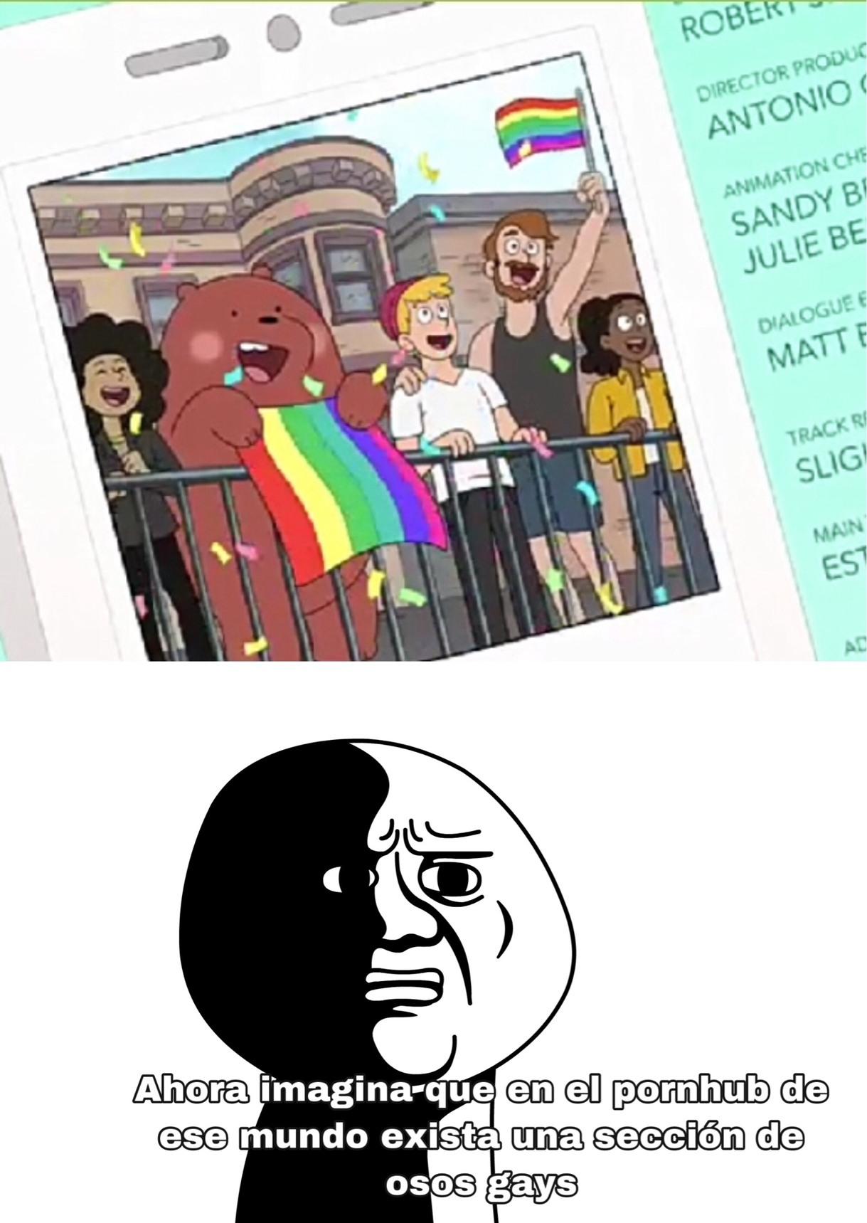 Odio a los osos gays - meme