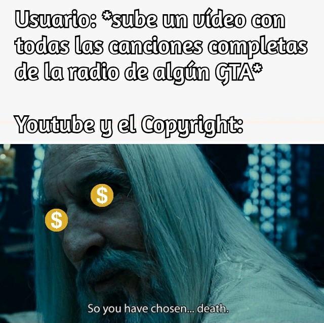 F por su monetización - meme