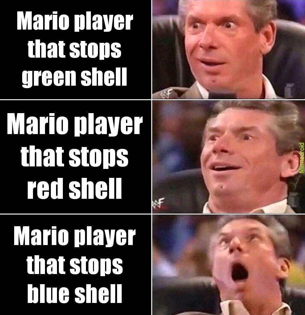 The horrible blue shell - meme