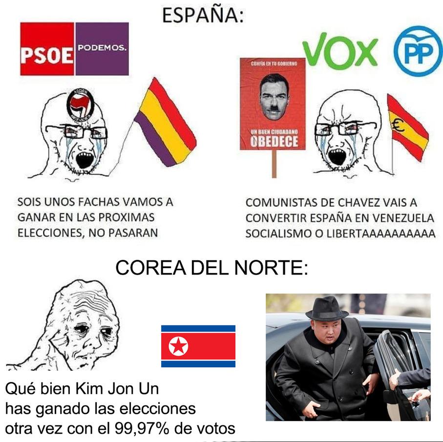 Kim en las elecciones:  - meme