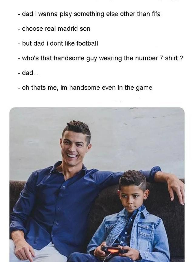 Cristiano is the best dad - meme