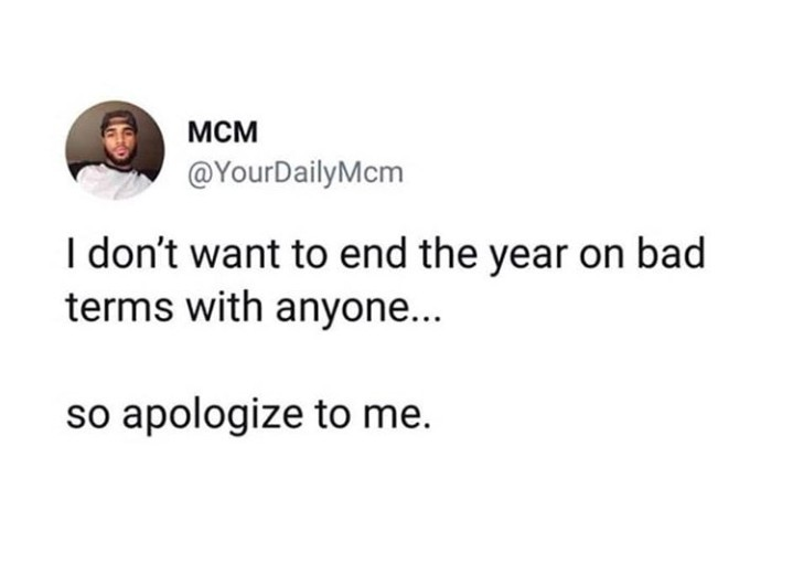 Apologies accepted - meme