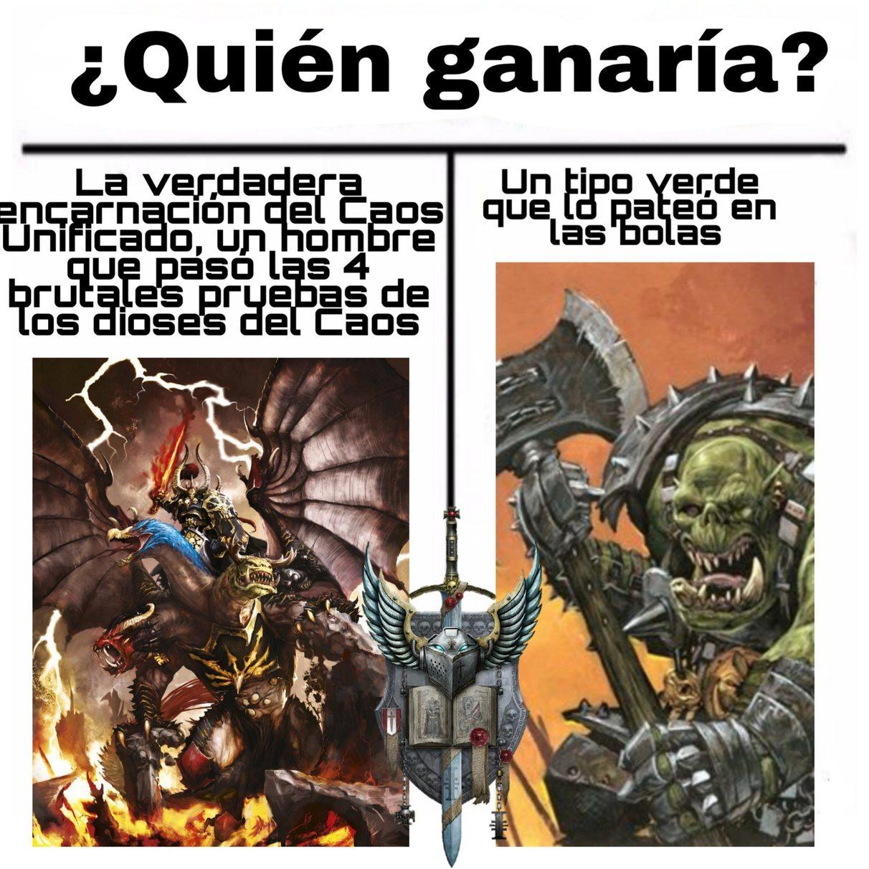Archaon vs Grimgor - meme