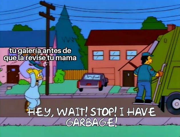 Espera tengo basura - meme