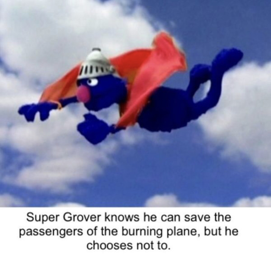 Super Grover - meme