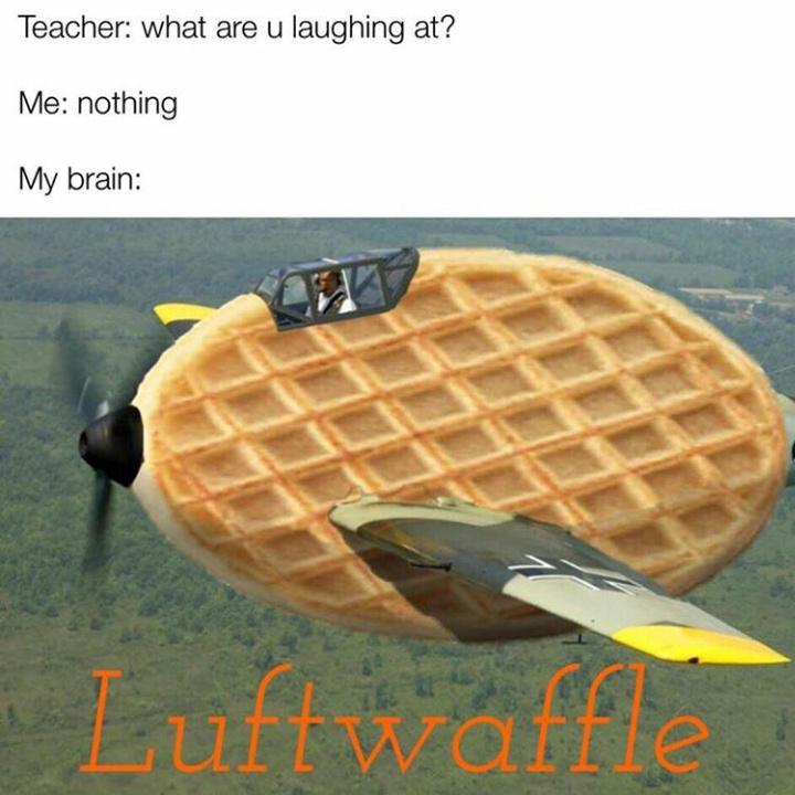 Waffles =gaufres pour les non initiés - meme