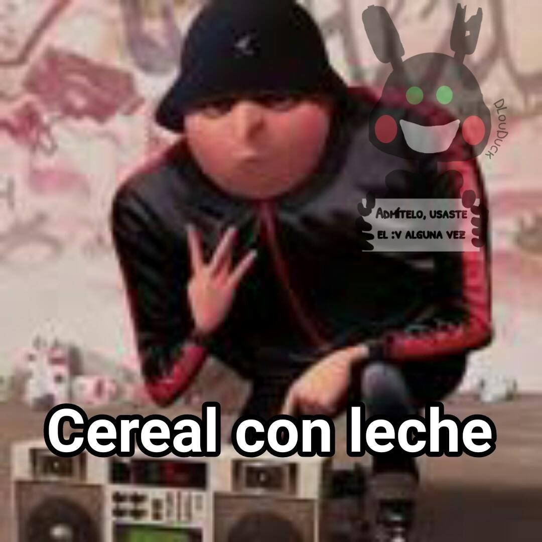 Cereal con leche - meme