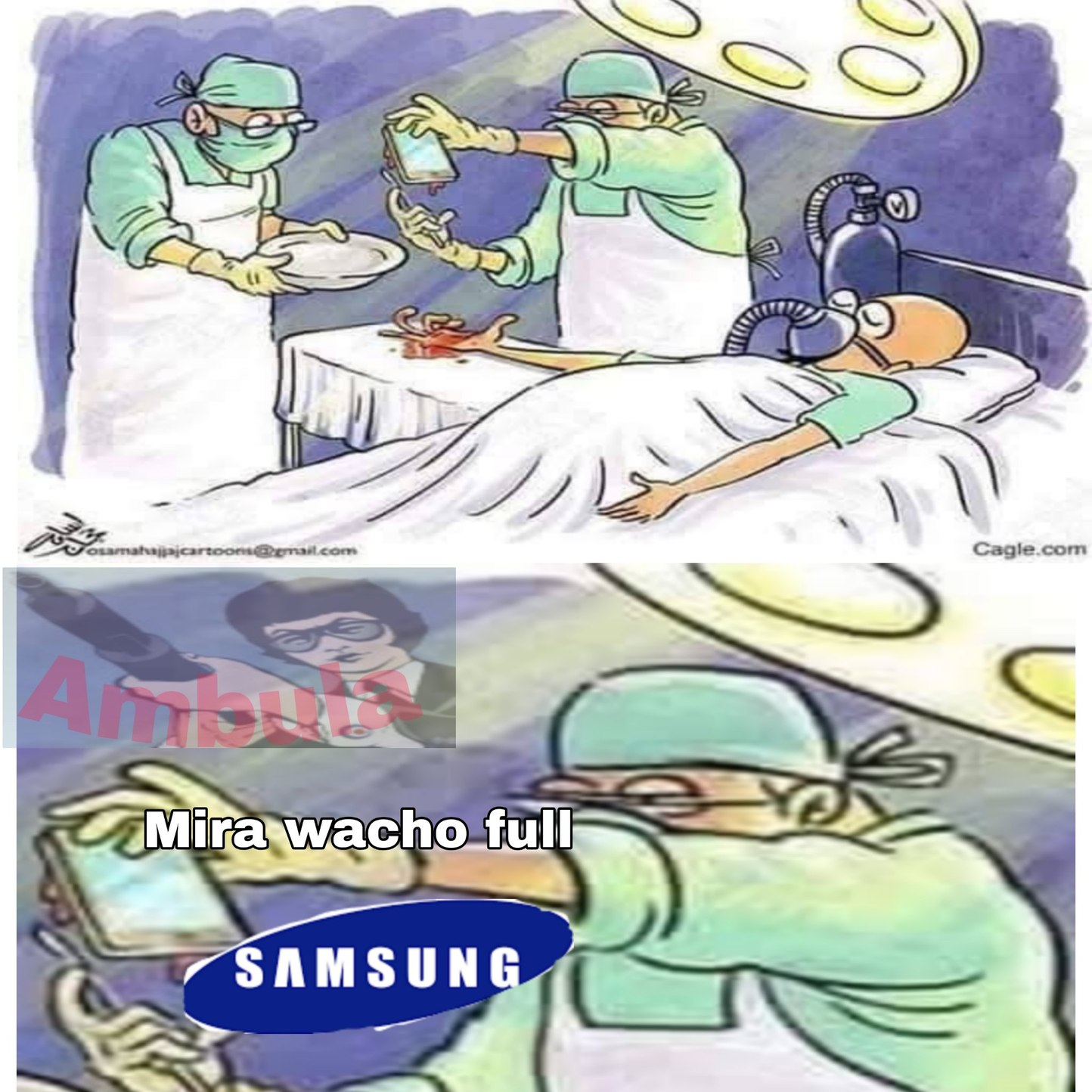 Samsung igual a bombas - meme
