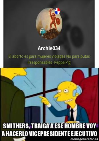 Y yo que pensaba que Archie034 no era inteligente - meme