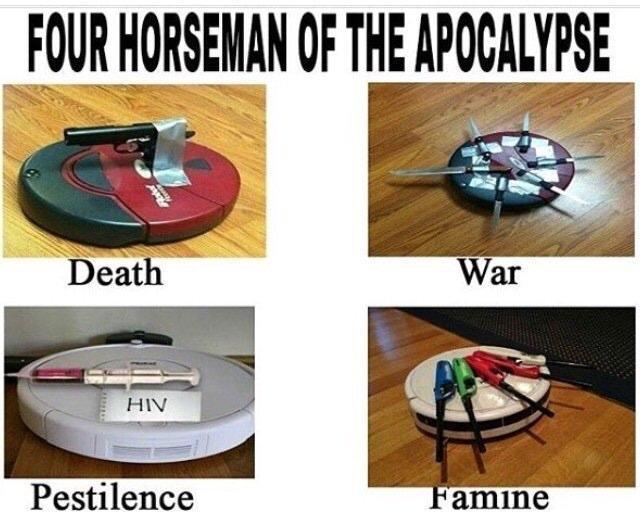 Roomba horsemen - meme