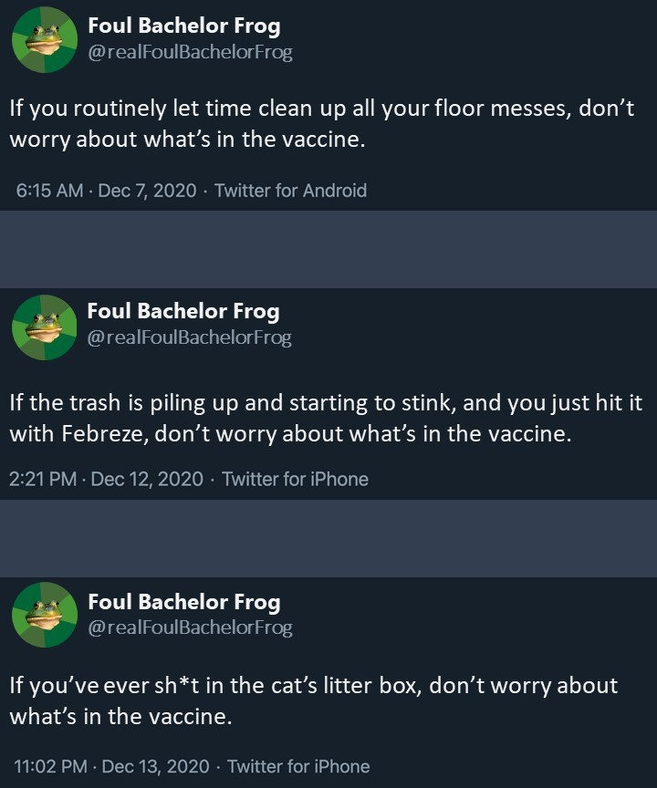 If Only Foul Bachelor Frog Had a Twitter Parody Account..... - meme