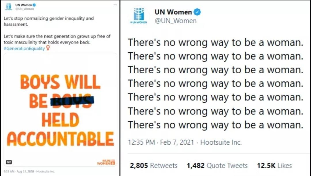 UN women hypocrisy - meme