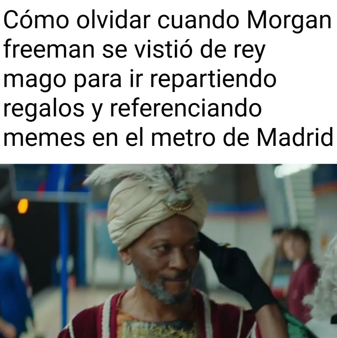 Es la campaña de Navidad del metro de Madrid - meme