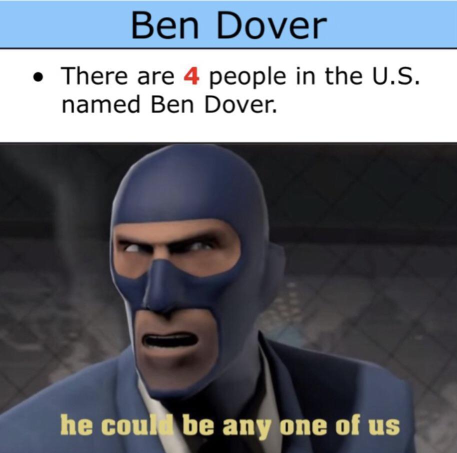 Ben Dover - meme