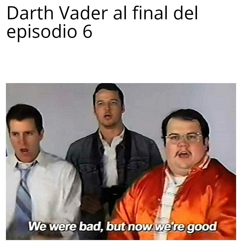 We were Darth bu now we are título - meme