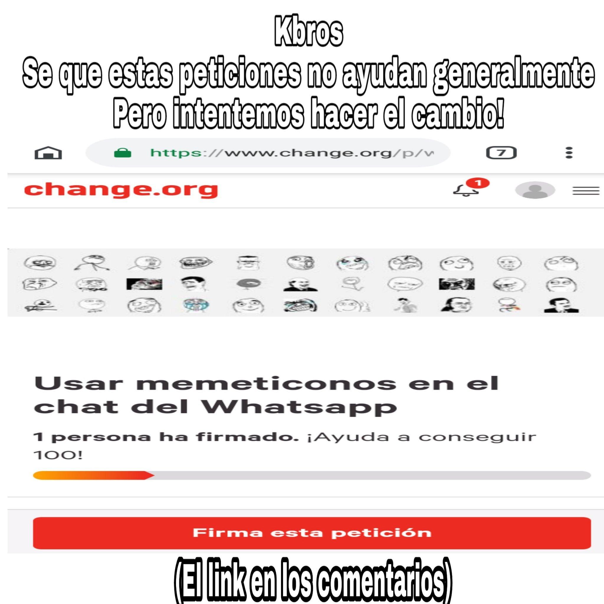 Change.org no sirve para nada pero vale la pena intentar - meme
