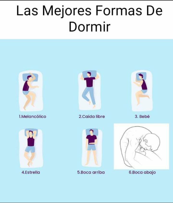 Las mejores formas de dormir - meme