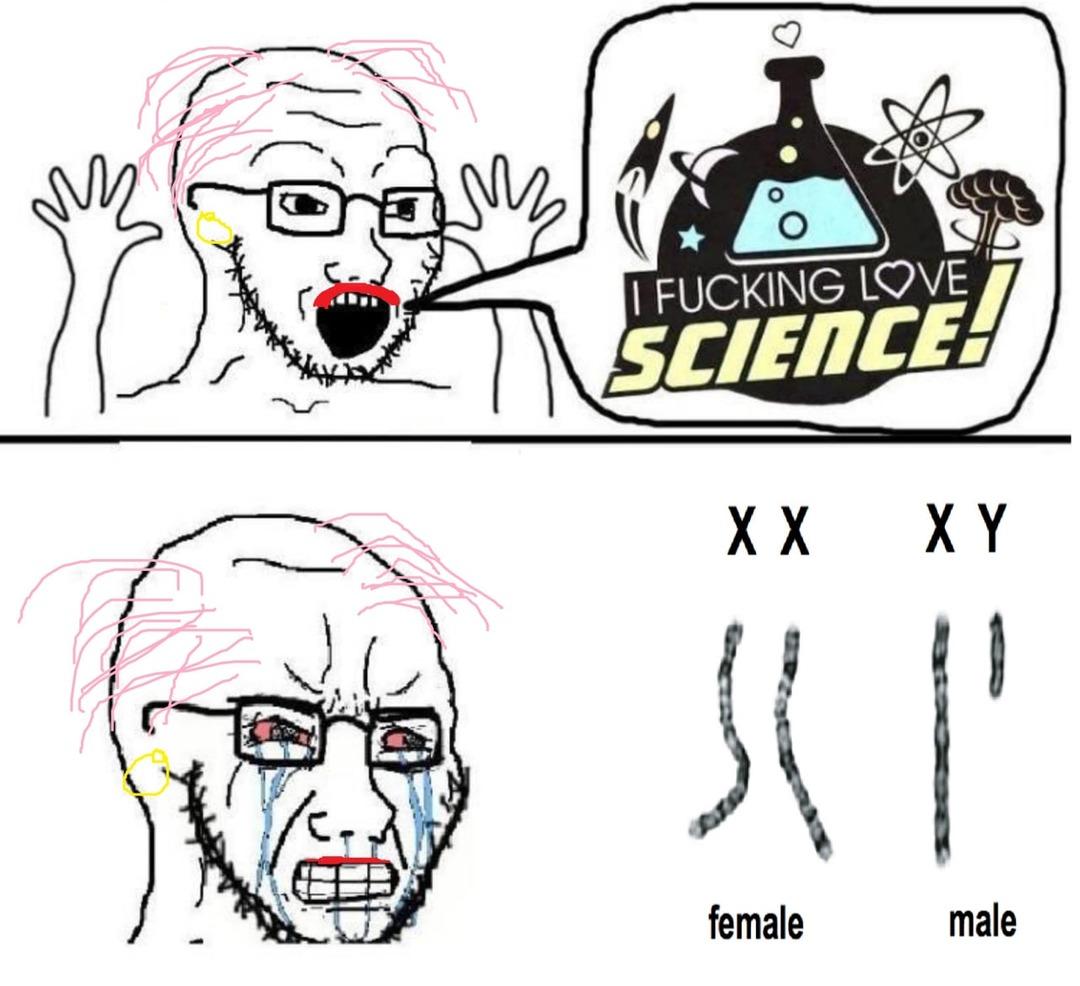 Ciência Trans - meme