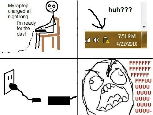 Damn charger! - meme