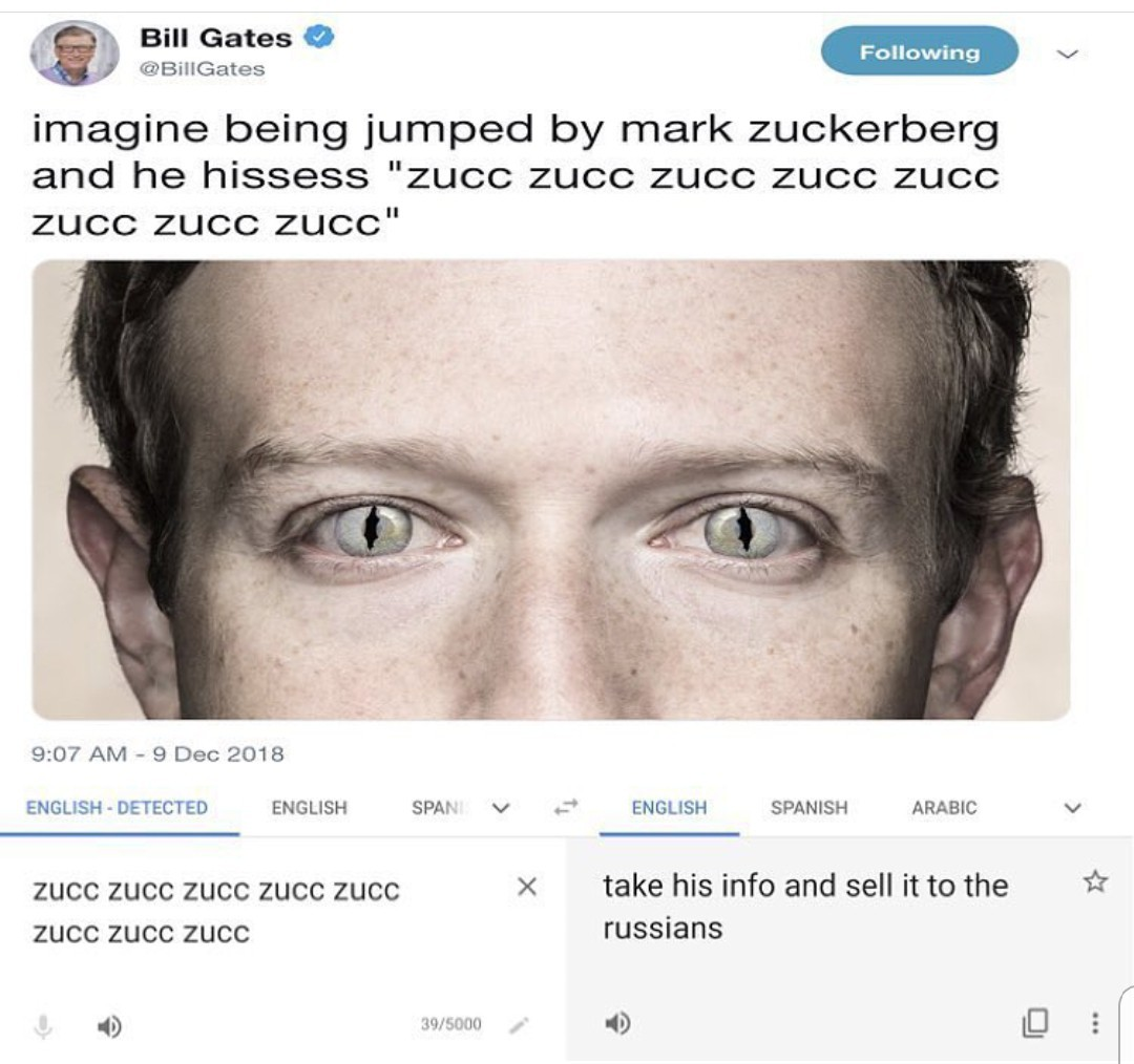 Give me the zucc daddy - meme