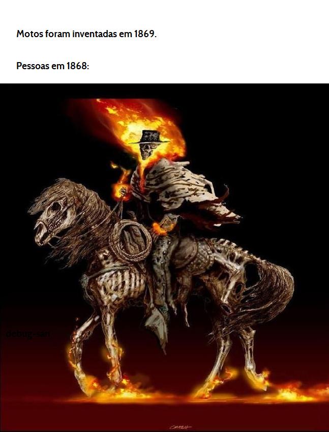 ai chega dois cara num cavalo... - meme