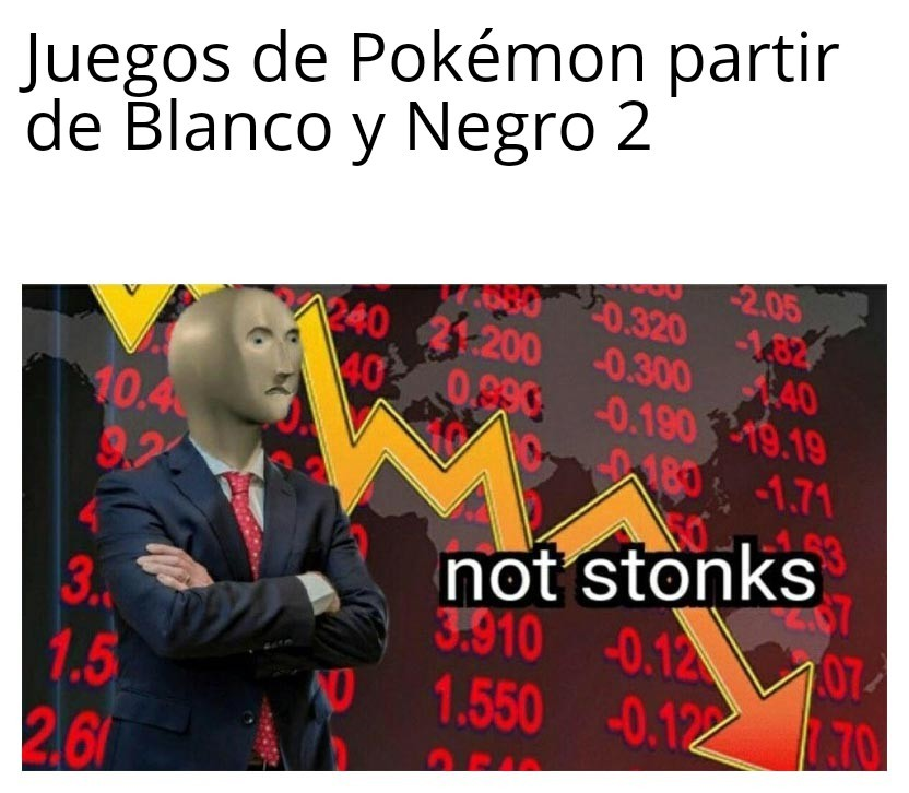 Ventas de Game Freak - meme