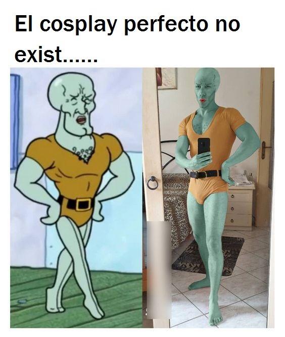 Calamardo guapo cosplay - meme