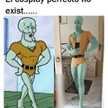 Calamardo guapo cosplay