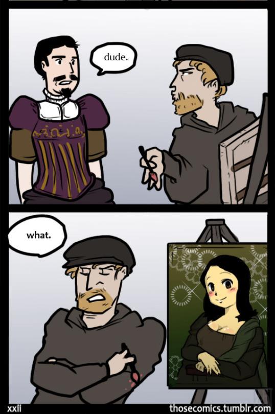 Mona Lisa 0.5 - meme