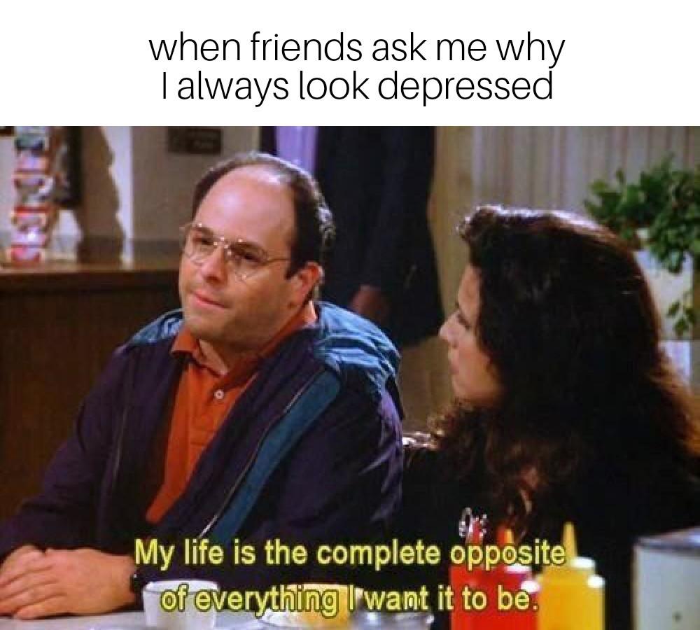 George is getting upset! - meme
