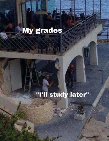 procrastination in a nutshell - meme