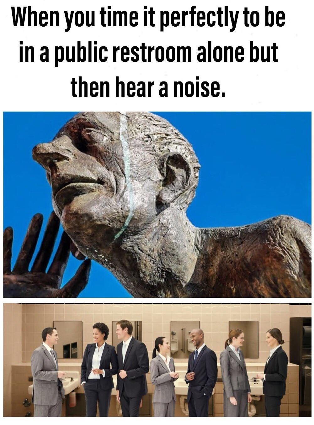 Bathroom troubles - meme
