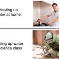 Aquecendo agua eh legal