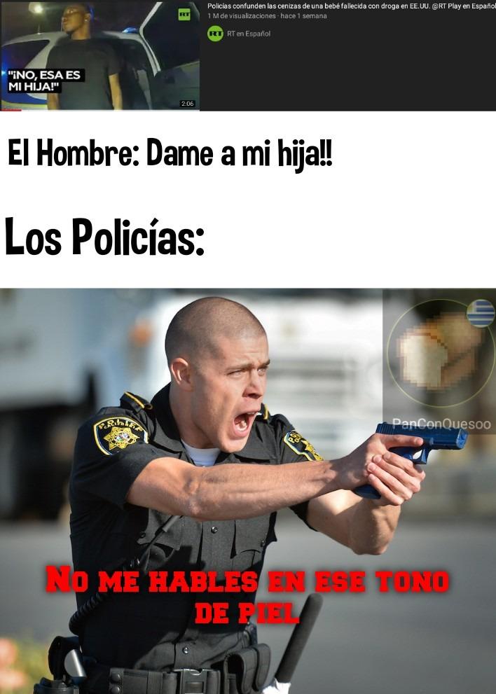 Policías Estadounidenses ya no me sorprenden - meme