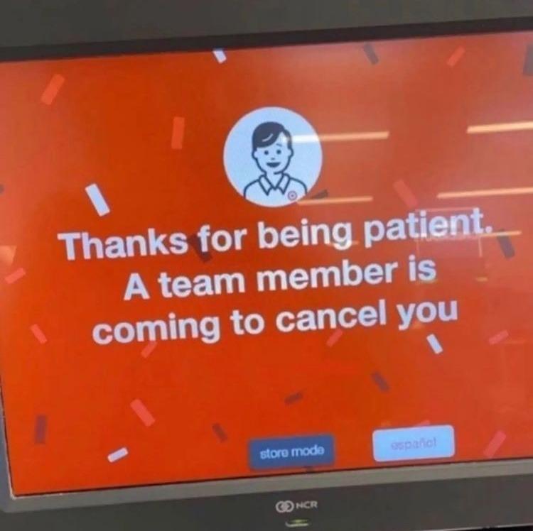 target ai will cancel you - meme