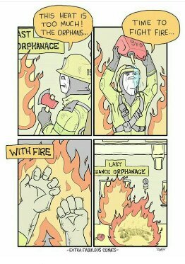 Fire with fire - meme