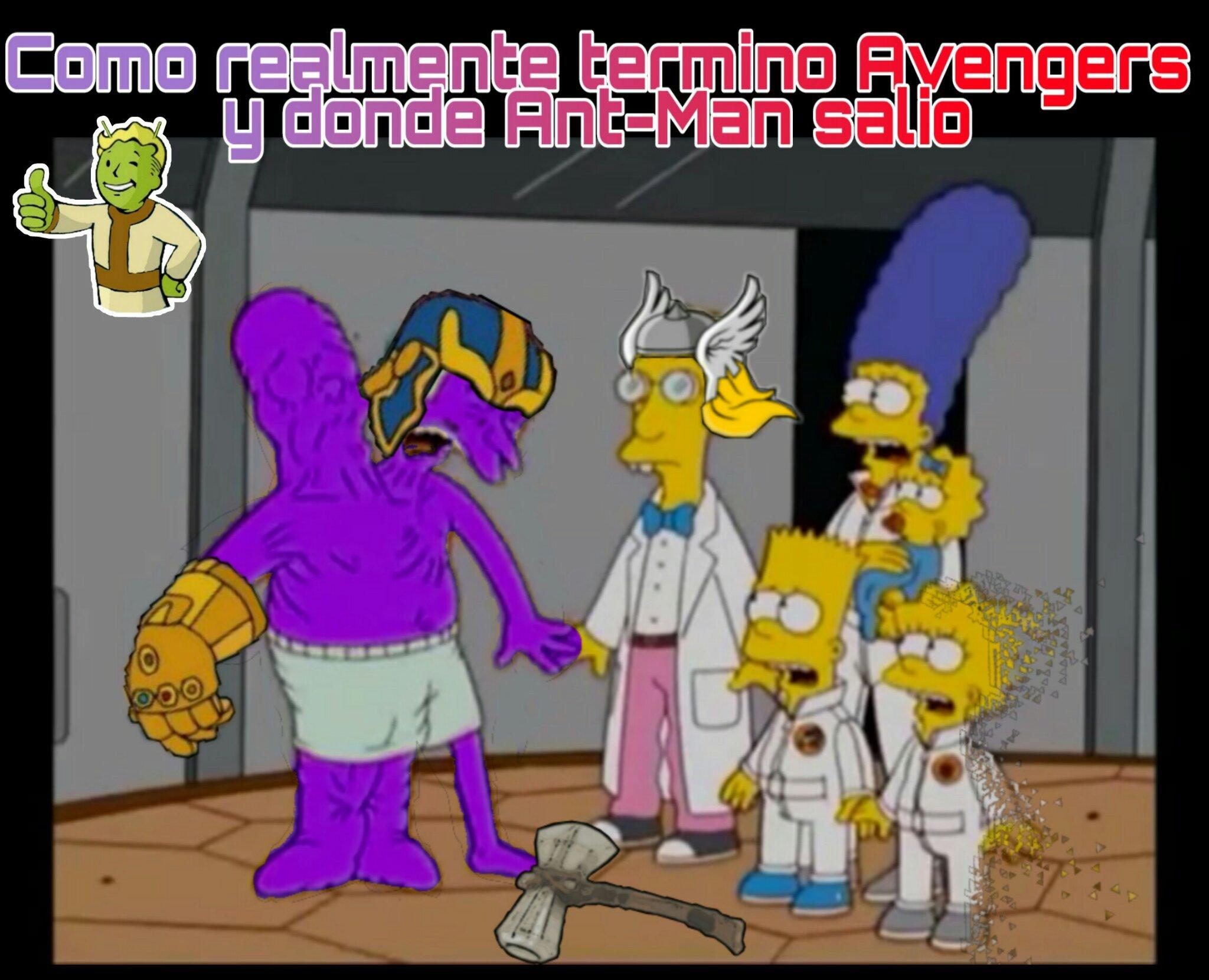 El meme de Ant-Man Thanos Butthole me recordo a la imagen de Thanos Desnudo :OhGodWhy: